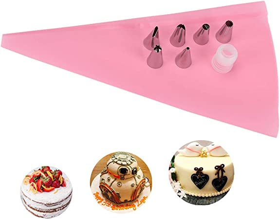 1 accoppiatore in plastica strumento fai da te per decorare torte fai da te Set di 14 ugelli in acciaio inox Chanhan