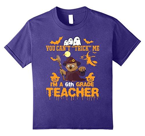 Kids Funny T-shirt For Teacher,Best Gift Idea For Halloween 12 Purple