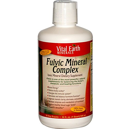 Vital Earth Minerals Fulvic Mineral Complex – Ionic Mineral Dietary Supplement – Supports Natural Energy Production, Sustain Proper Body pH, Supports Healthy Immune Function 32 Fl Oz – 30 Day Supply Review