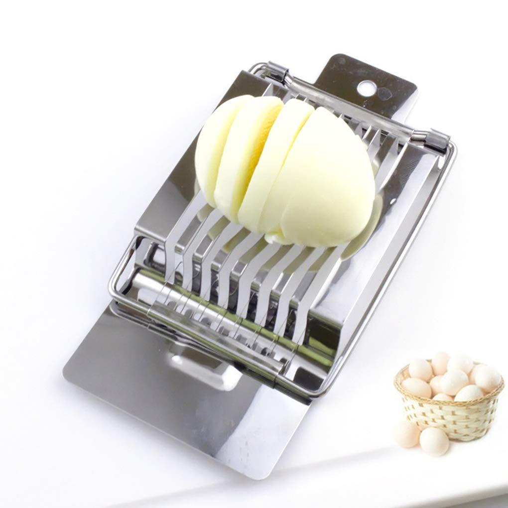 Multiuso in acciaio inox filo Egg affettatrice manuale Compact Portable Egg Tronchese Wedger fgyhtyjuu