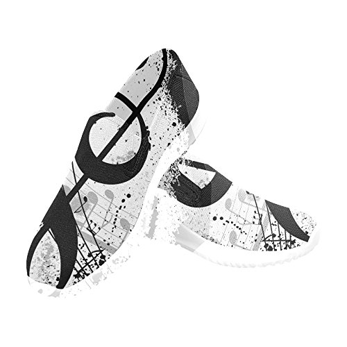D-story Shoes Slip-on Womens Canvas Sneakers Note Musicali