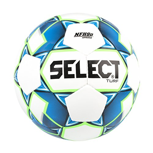 Select Turf Soccer Ball, White/Blue/Green, Size 4