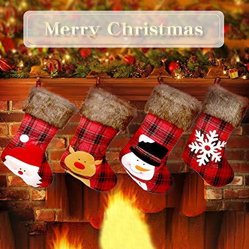Aitsite Christmas Stockings, 4 Pack 18\