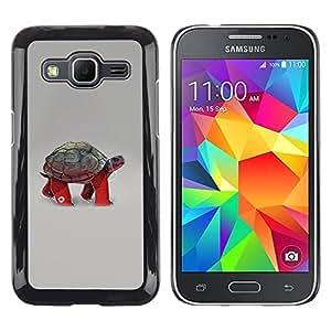 LECELL -- Funda protectora / Cubierta / Piel For Samsung Galaxy Core Prime SM-G360 -- Funny Turtle Tortoise --