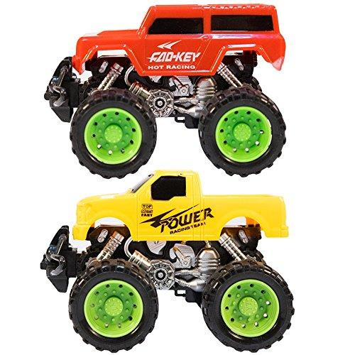 low-cost TukTek Kids First Set of 2 Mini World Race Monster