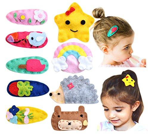 California Tot Felt Hair Snap, Non-Slip Hair Clips for Toddler, Girls (Mega Snap)