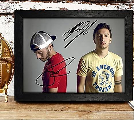 Tyler Joseph & Josh DUN Foto Autogramm 4x 6Nachdruck RP PP–Twenty One Piloten, holz, Framed Reprintz Graphs