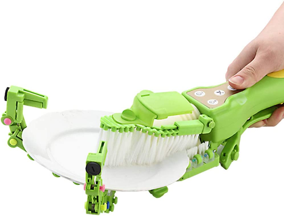 fang zhou Handheld Automatic Dish Scrubber Brush, Cleans The Dishes No Need to Touch Oil, Suitable for Kitchen Tableware Cleaning