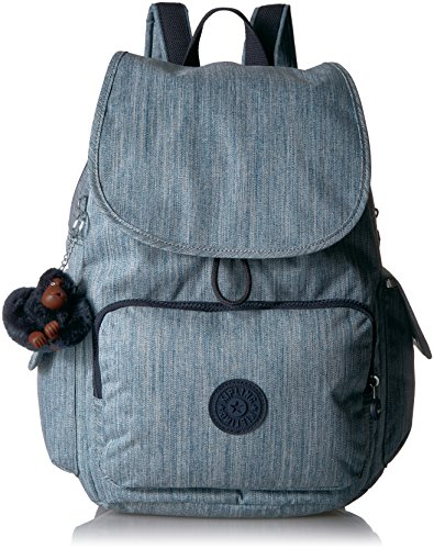 Blue Space Monkey - Kipling City Pack Solid Backpack, Indigo Blue