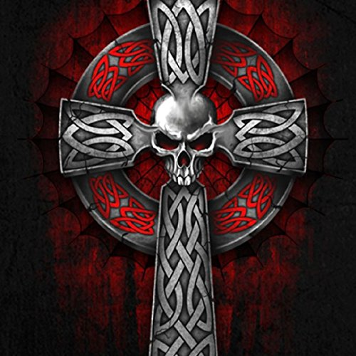 Hot Leathers Men's Celtic Cross Sleeveless Denim (Black, XX-Large)