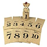 1 to 10 Burlap Wine Bags Blind Tasting, Wine Bags Wedding Table...