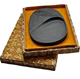 Natural Inkstone Calligraphy Tools Six-inch Greeting Songseitai Engraving Inkstone Ebony Inkstone Grinding Supplies Christmas Gifts