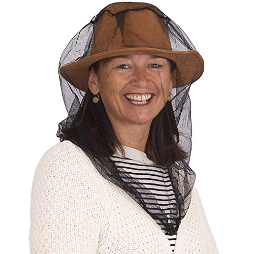 EVEN NATURALS Premium Mosquito Head Net Mesh, Ultra Large, Extra Fine Holes, Insect Netting, Bug Face Shield, Soft Durable Fly Screen, Protection for Any Outdoor Lover, Carry Bag, No Chemicals Added