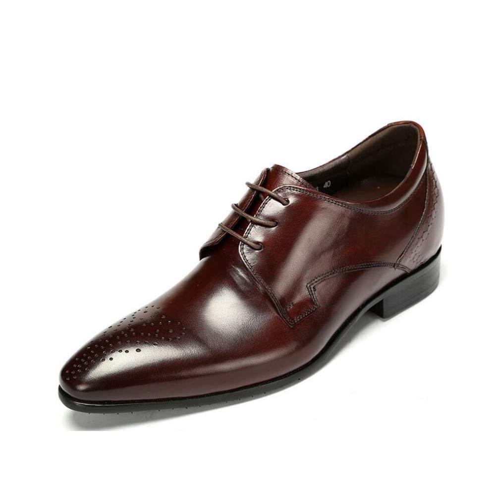 Yaxuan Zapatos De Los Hombres, Zapatos De Cuero De La La La Caída del Resorte, Zapatos De Negocio De La Manera Zapatos del Dedo del Pie/Pointed/,Brown,39 df3d04