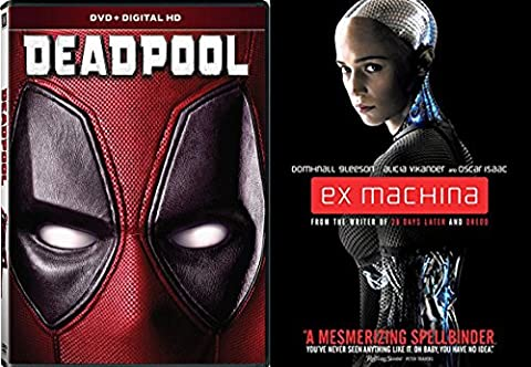 Deadpool Blu Ray & EX-Machina - Movie Pack Hero Bundle Digital HD Movies (V Vendetta Steelbook)