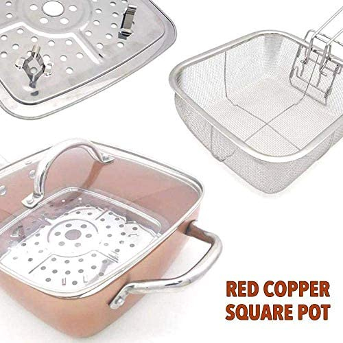 Ensemble de poêles antiadhésives 4 pièces avec accessoires de cuisine de 10 pouces pour poêles à frire carrées