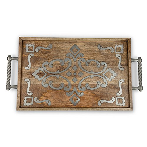 Heritage Wood & Metal Bed Tray - GG Collection by GG Collection
