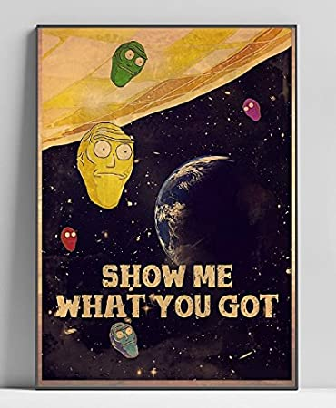 Amazon.com: Pop Wall Art Rick and Morty Planet Limited Poster ...
