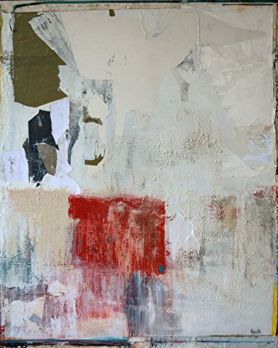 Large Mixed Media Abstract Painting by
