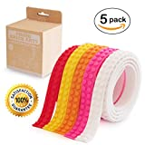 Think Brick Arts lego tape compatible educational building block tape strip rolls self-Adhesive loops non-toxic food grade silicone toys for kids and adults reusable multi colour (Warm Pack)