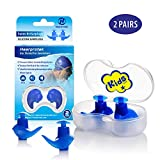 Hearprotek Swimming Ear Plugs, 2 Pairs Waterproof Reusable Silicone Ear Plugs for Swimmers Showering Bathing Surfing and Other Water Sports Kids Size