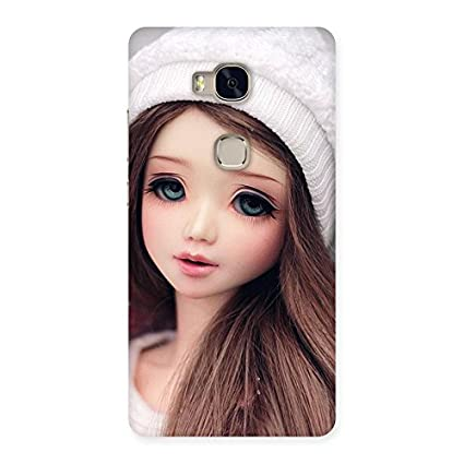Cute Innocent Angel Doll Back Case Cover for Huawei: Amazon