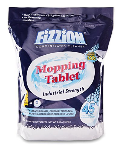 Fizzion Mopping Tablet Professional Industrial Floor Cleaner Commercial Grade Cleaning Solution 45 Tablets (2.8 lbs)