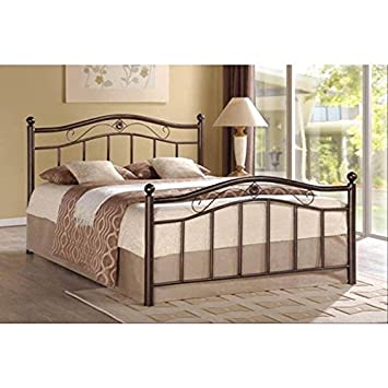 bronze metal platform bed queen with storage drawers white tufted walmart