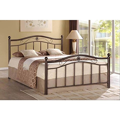 Rosebery Bronze Metal Platform Bed (Headboard Footboard Platform Rails)