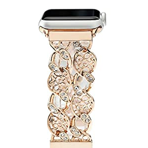 Fresheracc Compatible with Apple Watch Band iWatch Bands 38mm 40mm Women, Compatible for iPhone Watch Series 4 3 2 1, Sport, Nike, Cowboy Chain Wristband Replacement Straps