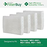 Vornado MD1-0001, MD1-0002, MD1-1002 Humidifier Wick Filter. Designed by FilterBuy to fit all Vornado Evaporative Humidifiers. Pack of 4 Filters.