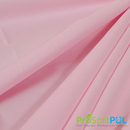 Eco-Friendly ProSoft 1 Mil PUL Premium Waterproof PUL Barrier Fabric (Made in USA, Baby Pink, sold by the yard)