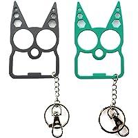 Keychain - iZiv No Touch MultiFunction Keychain Tool Cat Ear Design Bottle Opener Hexagonal Wrench Door Open Key Chain…