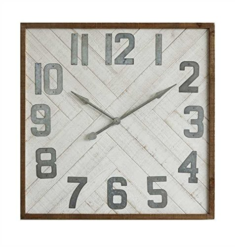 Sonoma Clock (Creative Co-Op DA7663 Sonoma Square Wood & Metal Wall Clock)
