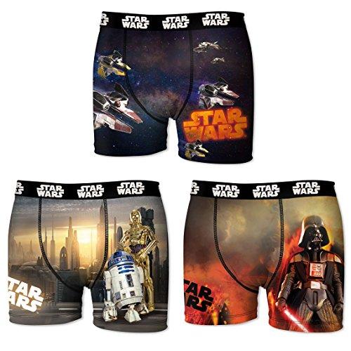 Star Wars Boxer, Shorts para Niños (Pack de 3): Amazon.es: Ropa y accesorios
