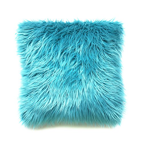 Fur Throw Pillow Covers : Howarmer Soft Pillow Covers Plush Mongolian Faux Fur 20-Inch-by-20-Inch Throw eBay