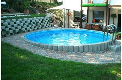 konifera Juego completo (9 piezas): empotrable redondo de piscina ...