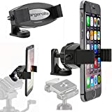 ChargerCity 360º Swivel Adjust Selfie Live Video Camera Tripod Mount & MegaGrab Easy-Adjust Smartphone Holder...