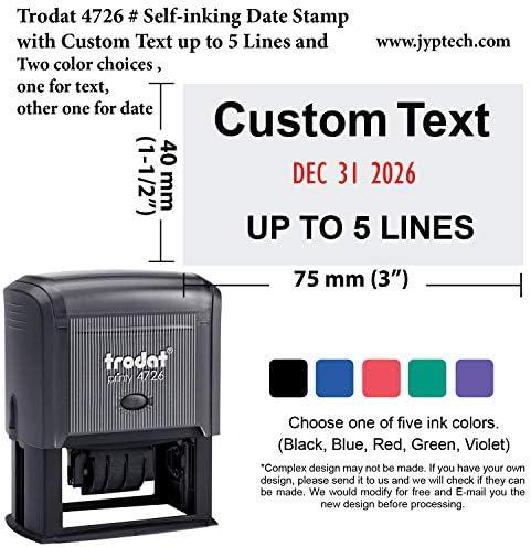 Trodat 4726 Self inking Stamp Customization