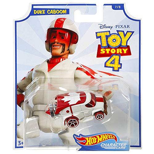 Hot Wheels Duke Caboom Toy Story 4 Character Car Diecast Car 1:64 -