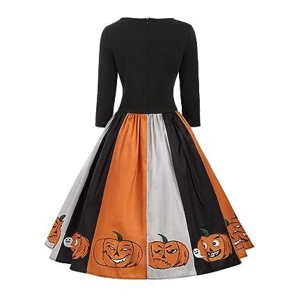 Goosun Vestido De Fiesta para Mujer Disfraz De Halloween Vestido ...