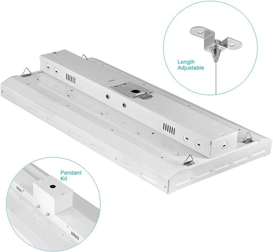 1-10V Dimmable 150W Suspend Mounting Supermarket Garage 500W Eqv 18000LM 2 Pack) 5000K Daylight High Bay LED Shop Lights for Warehouse Workbench LIGHTDOT LED Linear High Bay Light 2FT