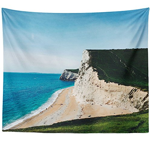 Westlake Art - Coast Cliff - Wall Hanging Tapestry - Picture Photography Artwork Home Decor Living Room - 68x80 Inch (Portsmouth Outdoor Hanging)