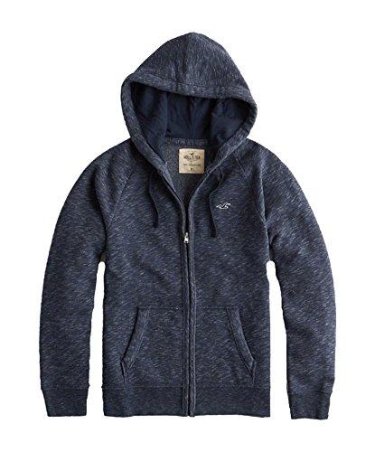 Hollister Men's Hoodie Sweatshirt Pullover (Navy FG 2202, XL)