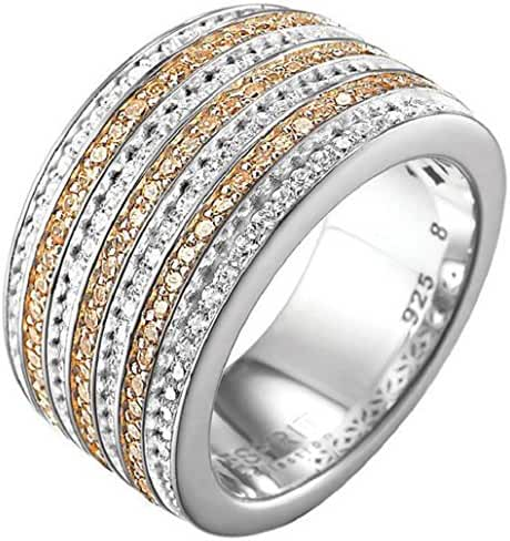 ESPRIT Women's Ring In Sterling Silver With Cubic Zirconia 14.9 G