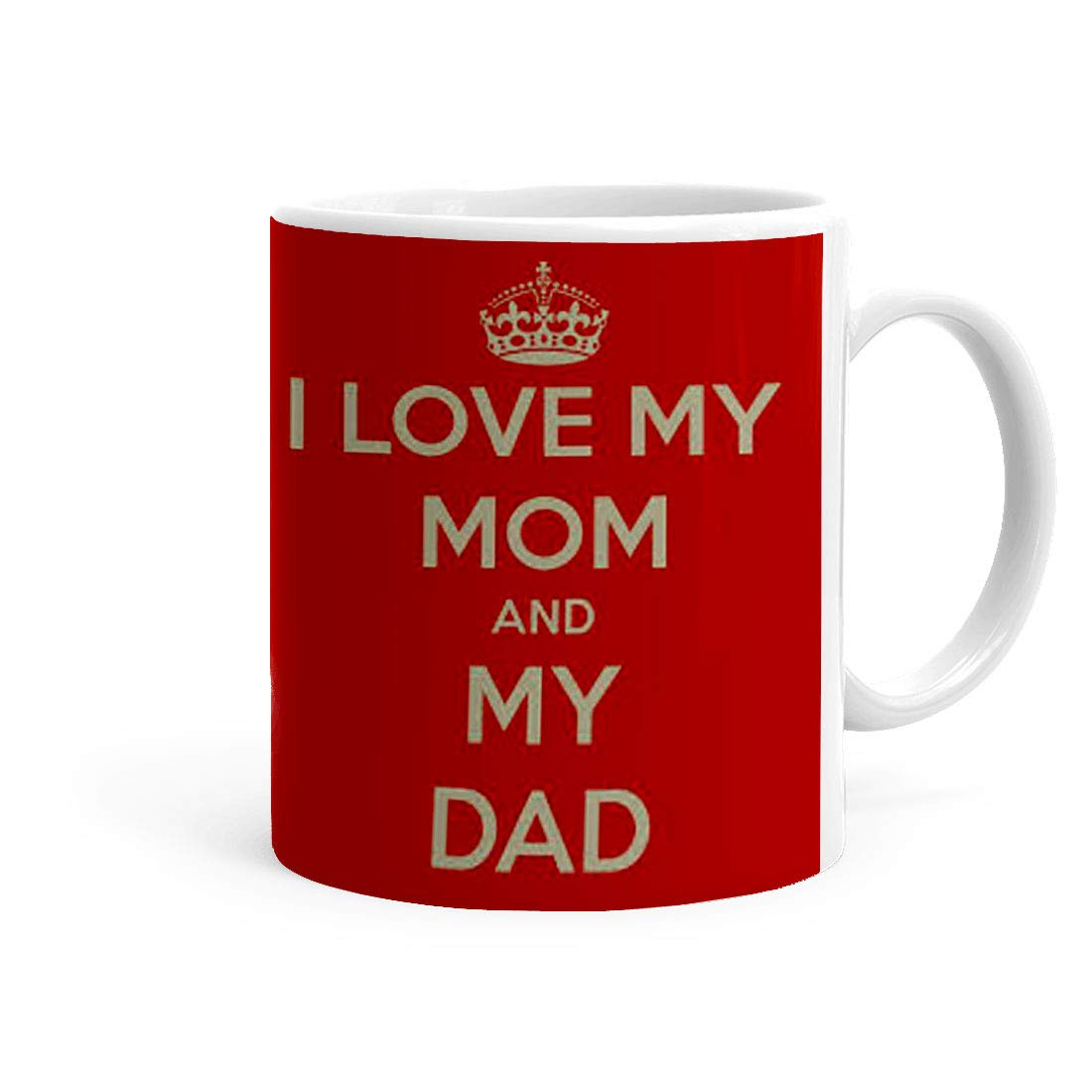 Buy Mojolo Love My Mom And Dad Theme Coffee Mug 325 Ml Gift For Mother Online At Low Prices In India Amazon In
