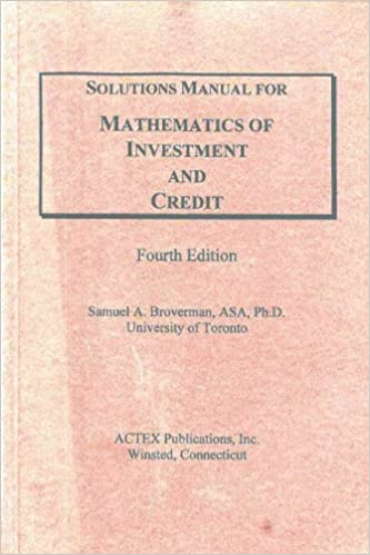 Solutions manual for mathematics of investment and credit solutions manual for mathematics of investment and credit solution manual edition fandeluxe Gallery