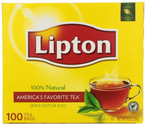 Lipton Natural Tea 100 Bags by (Lipton 100% Natural)