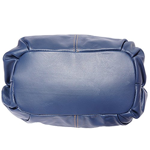 Borsa Vitello 8655 Mano Pelle cuoio Blu Leather Florence Morbido In Scuro A Market Valentina Di Borse AwfnEv
