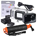 ACTIVEON CX 1080p WiFi Action Camera with Dual Batteries, 32GB microSD Card, H - Best Reviews Guide
